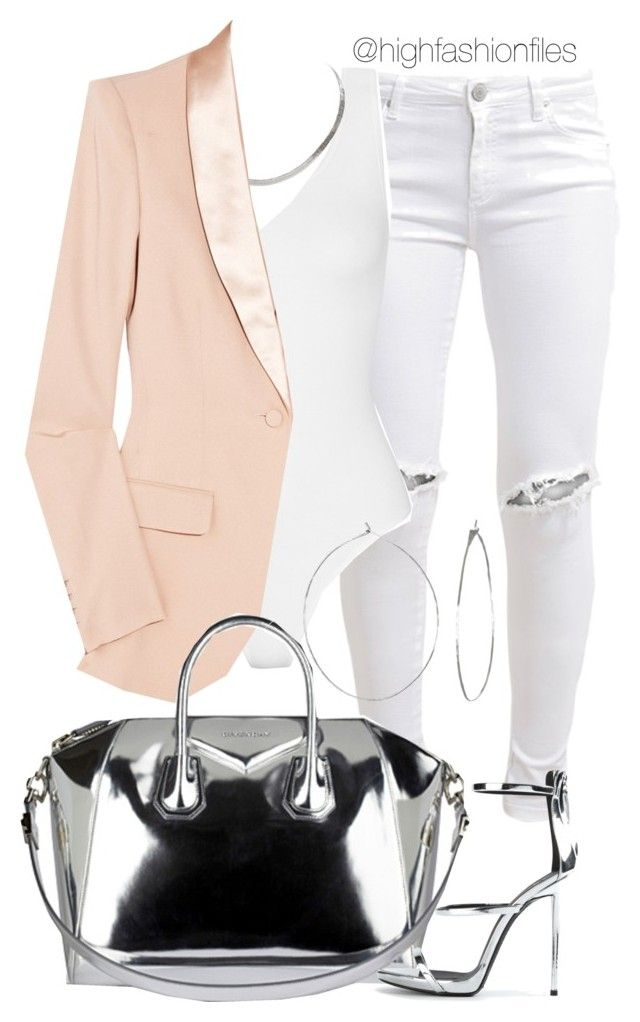 """Metallic"" by highfashionfiles ❤ liked on Polyvore featuring FiveUnits, Yummie by Heather Thomson, The Row, Givenchy, Phyllis + Rosie and Giuseppe Zanotti"