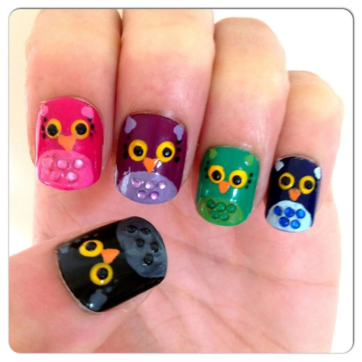 42 best images about owl nails u as decoradas con b hos - Decoracion con buhos ...