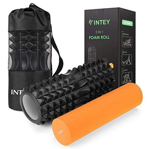 Intey Faszienrolle Set 2 In 1 Foam Roller Gymnastikrolle Fur