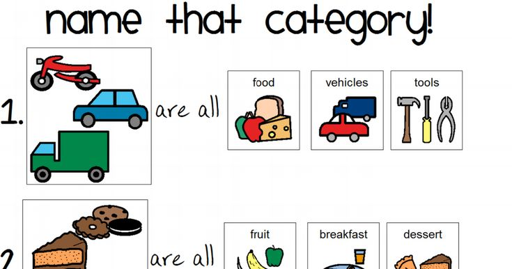 Name That Category Worksheet