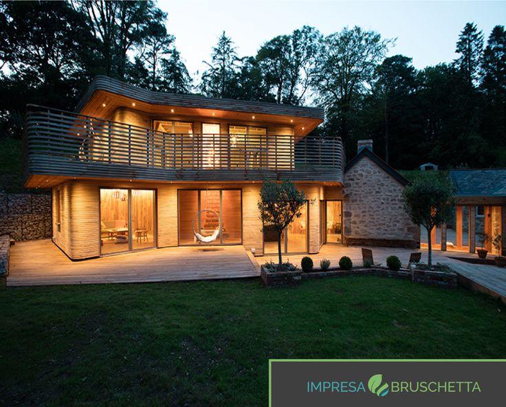 LA CASA DEL VAPORE  Una bellissima casa forgiata con il legno e il vapore…. La creatività in edilizia 😃😃  Se vuoi conoscere tutti i segreti di una casa sostenibile seguici sul nostro blog   http://www.impresabruschetta.it/blog-bruschetta/