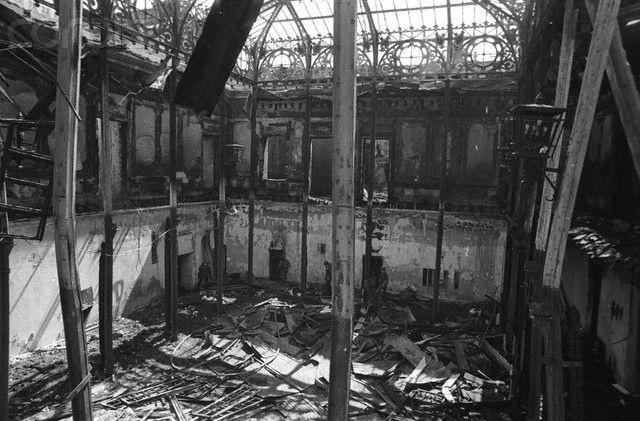 Palacio de la Moneda tras el ataque