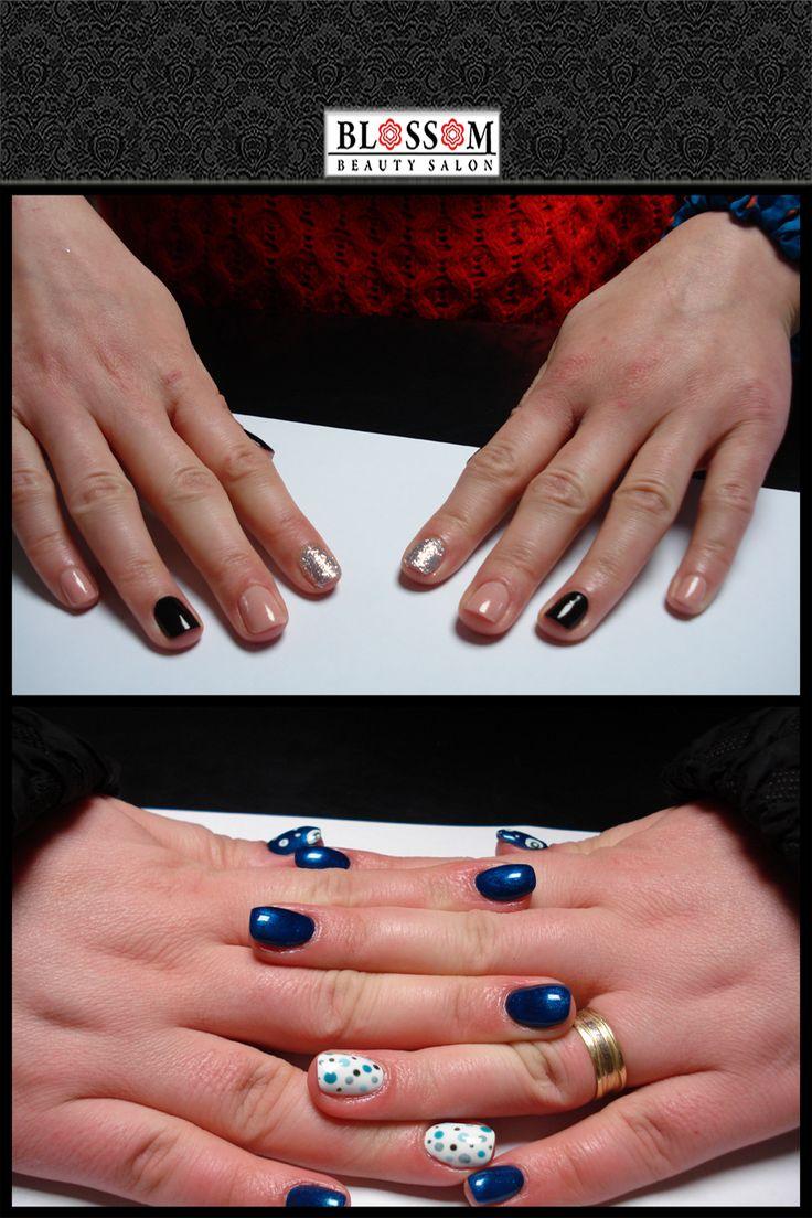 Tu ce model de unghii de zi cu zi ai alege?  Preferi modelele cu un strop de strălucire alături de culori mai reci sau cele cu modele și printuri creative?   Luna aceasta mani+pedi cu ojă semipermanenta și mani cu ojă semipermanentă + pedi clasică, efectuate în aceeași zi au 20% reducere!