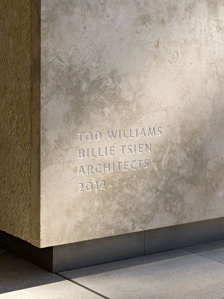 Signage - The Barnes Foundation by Tod Williams/Billie Tsien Architects. Photo by Abbott Miller.
