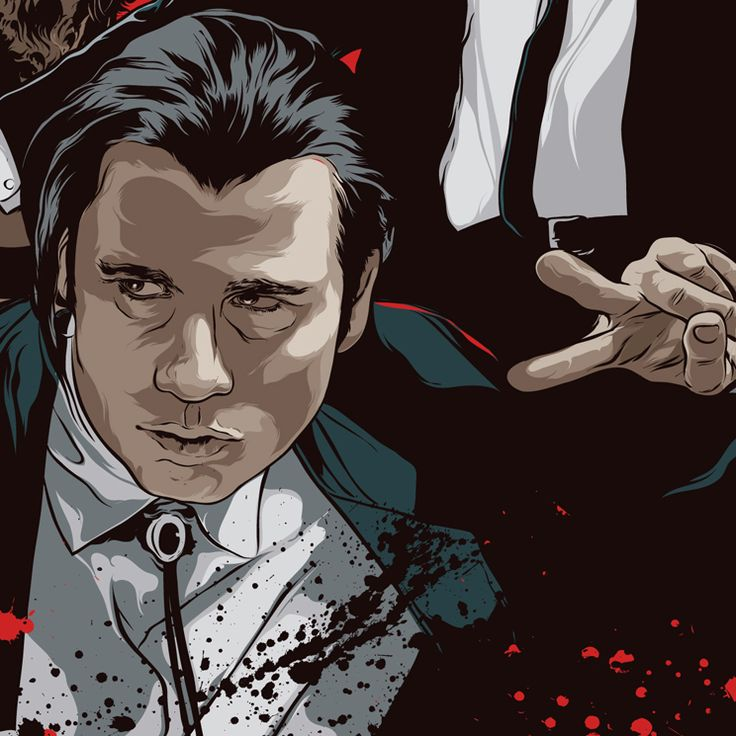 John Travolta - Pulp Fiction - Art by Mondo