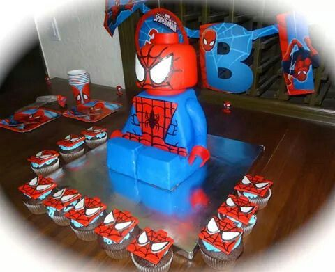 66cb1d2280c1afcf844ef458cf2160a6 Spiderman Homecoming Birthday Cake
