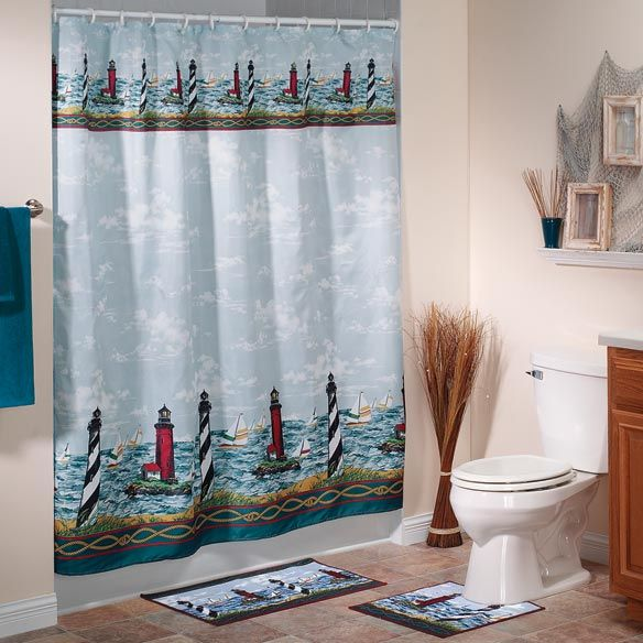 17 ideas about lighthouse bathroom on pinterest - Bathroom shower curtains and accessories ...