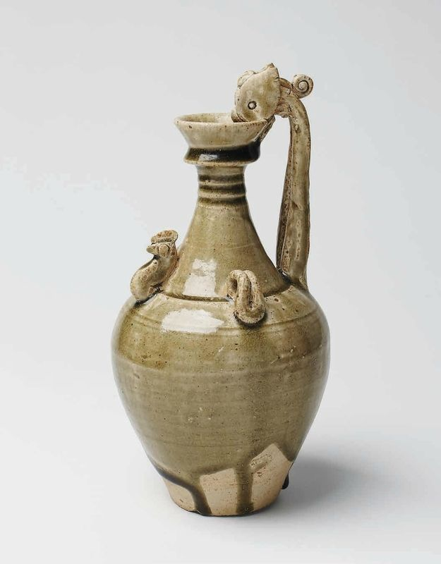 Large Lushan Type Phosphatic Glazed Ewer, Tang Dynasty, 618 – 907 A.D.