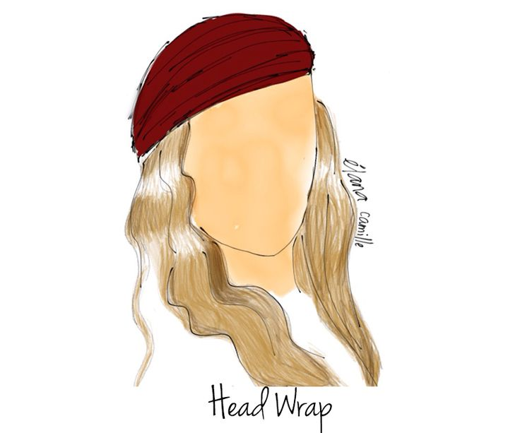 How to Style a Scarf - Head Wrap   fashion illustration
