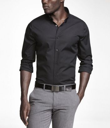 100 best images about business casual men 39 s on pinterest for Black shirt business casual