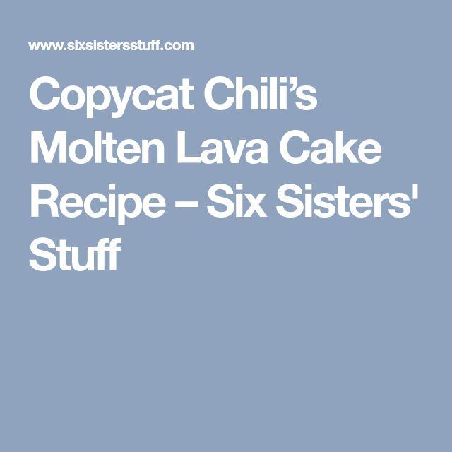 Copycat Chili's Molten Lava Cake Recipe – Six Sisters' Stuff