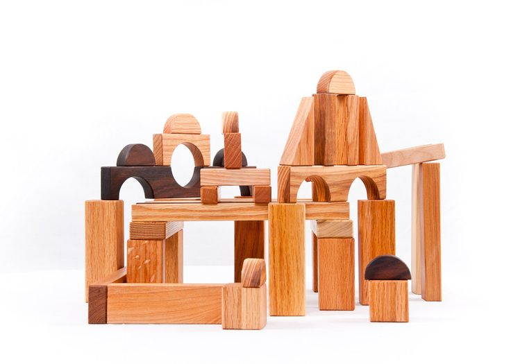Wooden Blocks Hardwood Building Blocks-45 piece set Waldorf wooden toy blocks toddler baby childrens toy. $60.00, via Etsy.