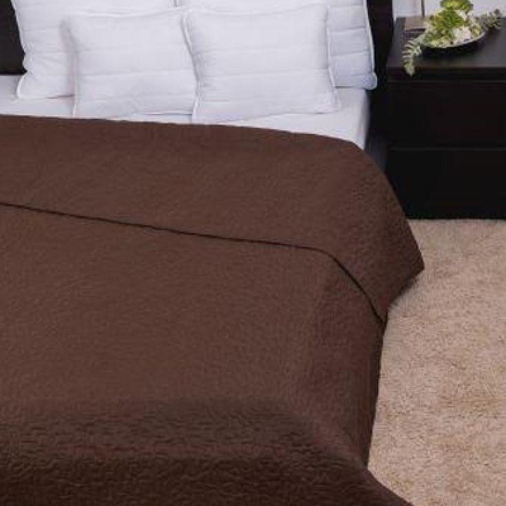 CLARA csokoládébarna / márvány steppelés ágytakaró 235x250 cm, Díszpárna.com Webáruház