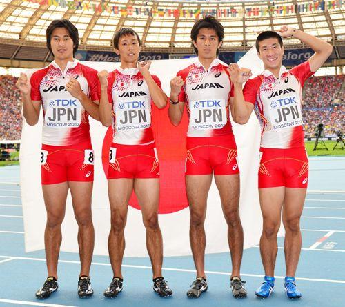 日本6位入賞、男子400R決/世界陸上