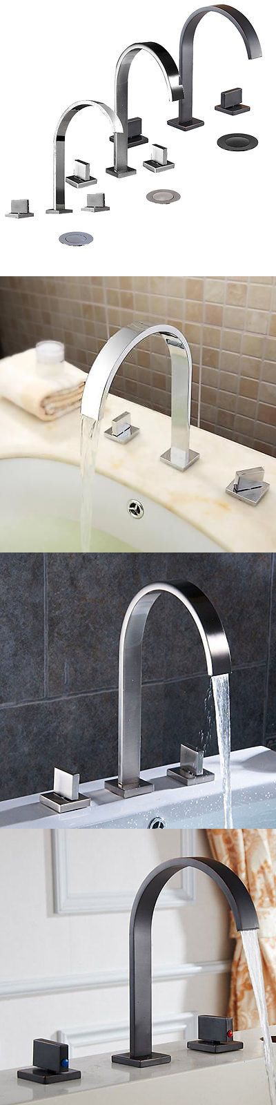Faucets 42024: 8 Bathroom Faucet Widespread Chrome Brushed Nickel Orb Three Holes Two Handle -> BUY IT NOW ONLY: $59.99 on eBay!