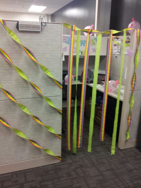 office birthday decorations. happy birthday coworker office decorations