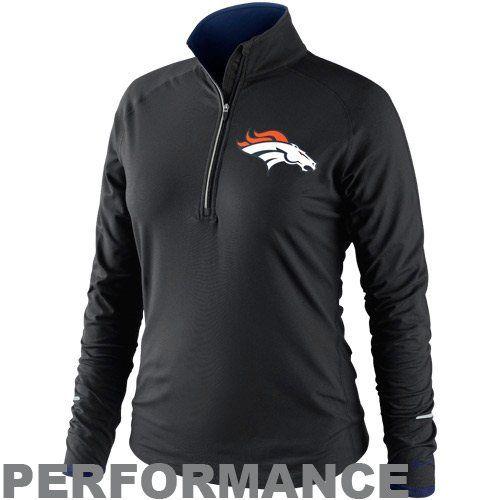 Nike Denver Broncos Womens Conversion Half Zip Performance Jacket - Black