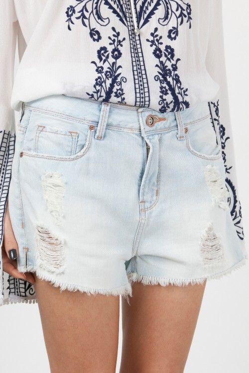 Shorts Jeans Basic Delave-Azul Claro da Canal Concept