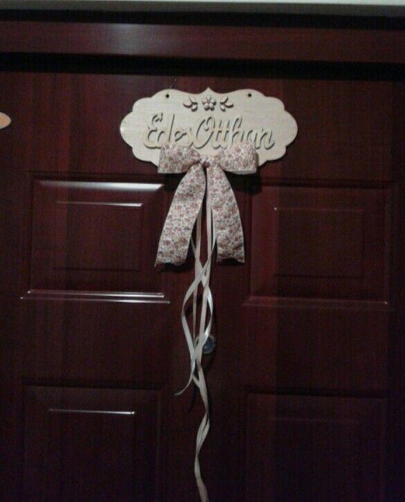 Sweet home door decor