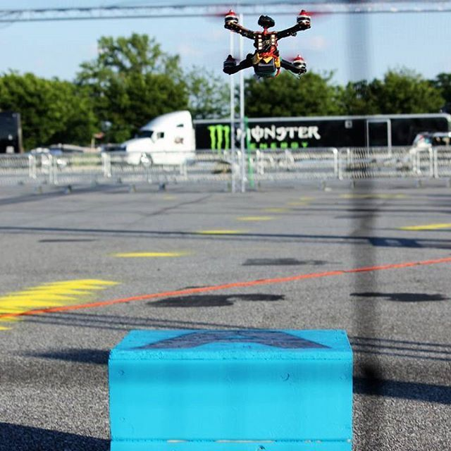 Quad's launch from the start line at Dover Internationals, first race of the 2017 Drone Racing Series! @monstermile    #droneracing #IDRA #DroneRacingSeries #fpvracing #drones #racing #esports #sports #Dover #DoverInternationalSpeedway #MonsterMile #fpv #nascar #worldchampionship #foxeer #dalprop #liftoff #thinktank #hobbico #gemfan #frsky #tmotor #seemecnc #amazonprime #amazonvideo #dailymotion #runcam #raceflight