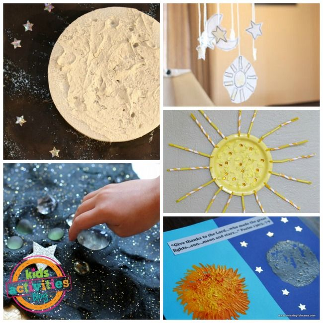 Space & Solar System: 1-day 4 creation sun moon stars craft