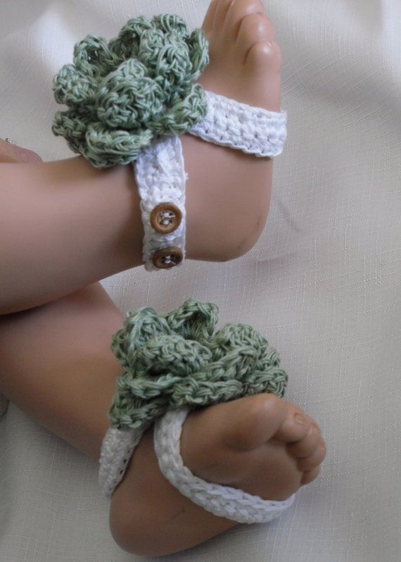 The 94 best Crochet Booties (Barefoot sandals) images on Pinterest ...