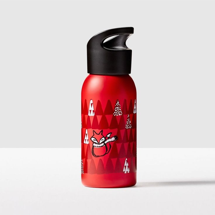 Kid's Stainless Steel Fox Water Bottle. The perfect combination of cute and durable.