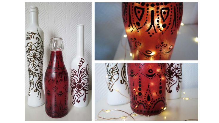 Flaschen bemalen * 2 Varianten * Painted Bottles DIY