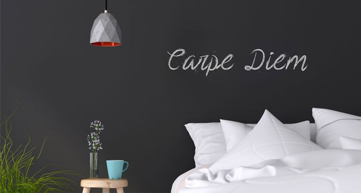 Use chalkboard paint to create a bedroom wall that's fun and interactive, and not just for display. Scribble or sketch doodles, practical reminders, and quotes of the day.