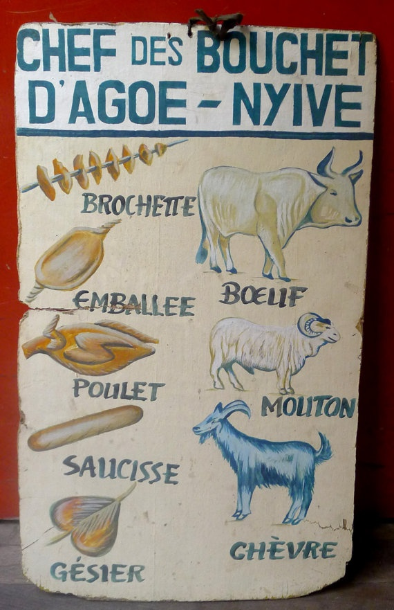 African butcher sign