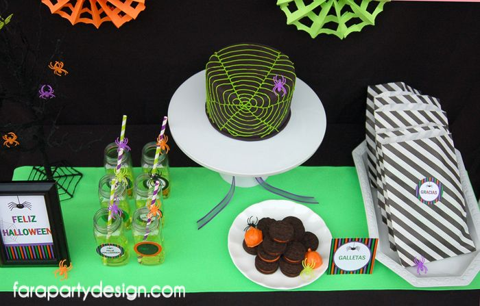 FaraPartyDesign-Fiesta Arañas-Spiders Halloween Party (6)