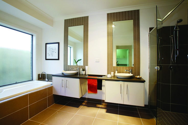 Beautiful Bathrooms #homes #bathrooms #design #newhomes www.megahomes.com.au