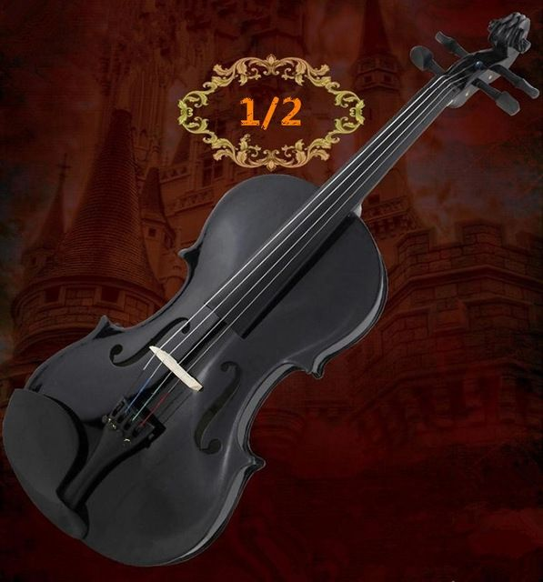 104.50$  Buy now - http://ali8u1.worldwells.pw/go.php?t=32480865026 - V301 0201 violin 1/2 violin handcraft violino Musical Instruments with violin rosin case 104.50$