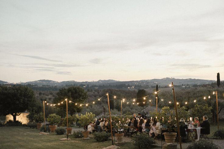 Tuscany, destination wedding Italy, lights Ph. Meghan Sadler