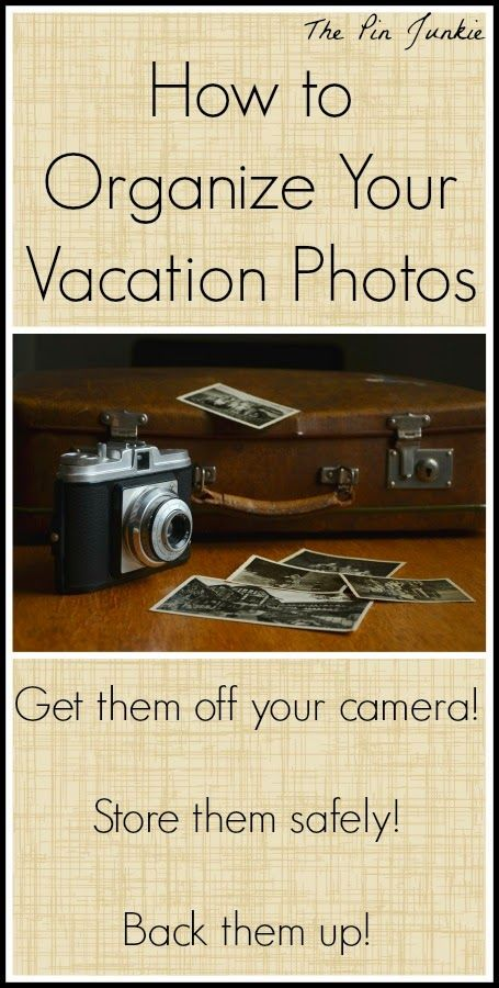 How To Organize Vacation Photos.  Get them off your camera, store them safely, and back up your most important family memories!