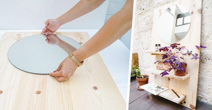 Tuto : Fabriquez une étagère très élégante avec son miroir en 1h seulement