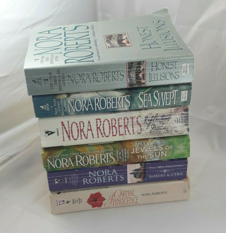 Nora roberts 6 paperback book lot paperback books nora