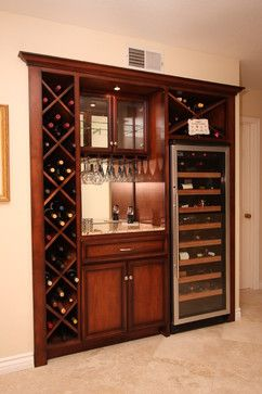 Pacific Coast Custom Design Built In Wine Storage Cabinet