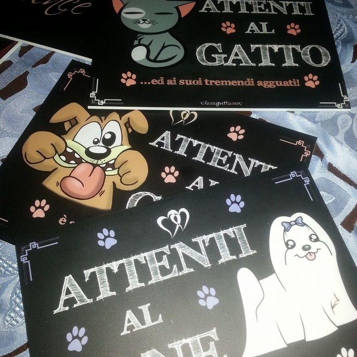 attenti al cane o al gatto!!! lavagnetta 20x15 #lavagnettiamo@gmail.com