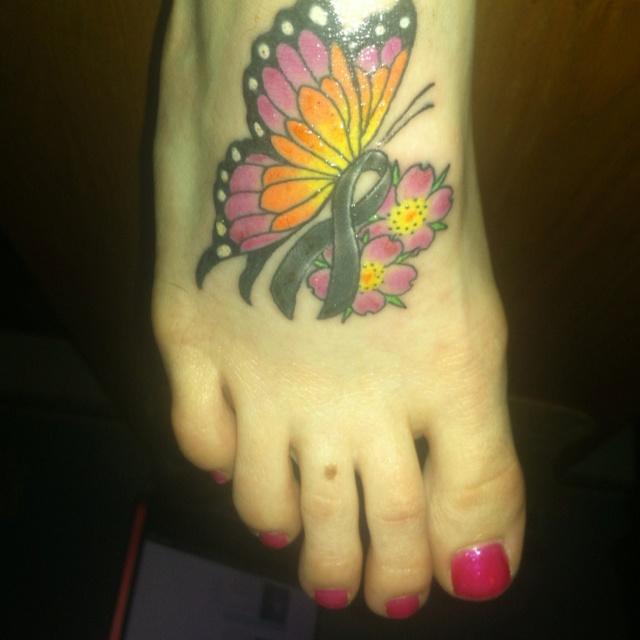 My tattoo for my fight with Melanoma. Been 5 years strong!