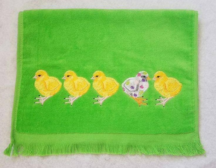Baby Chicks Spring Easter Fingertip Towel