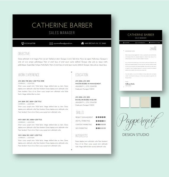 59 best ☆ Resume Templates for Word + Cover Letter images on - barber resume