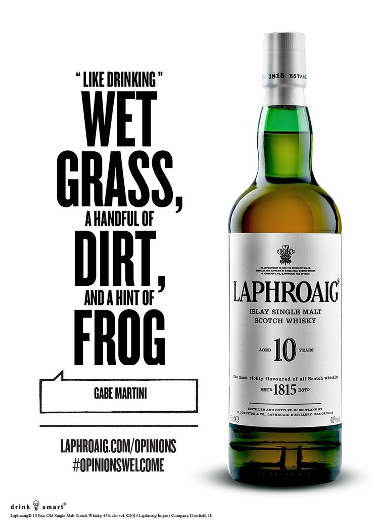 Great quote for our 10YO Laphroaig. #laphroaig #whisky # ...