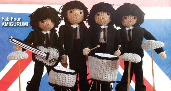 Fab four crochet. I need to work on my skills so I can make this.