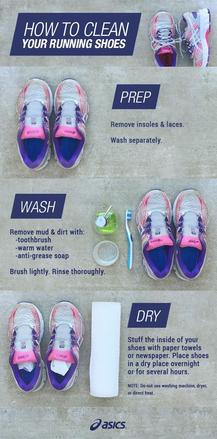 Dirty running shoes? Tips to clean and care for your ASICS.