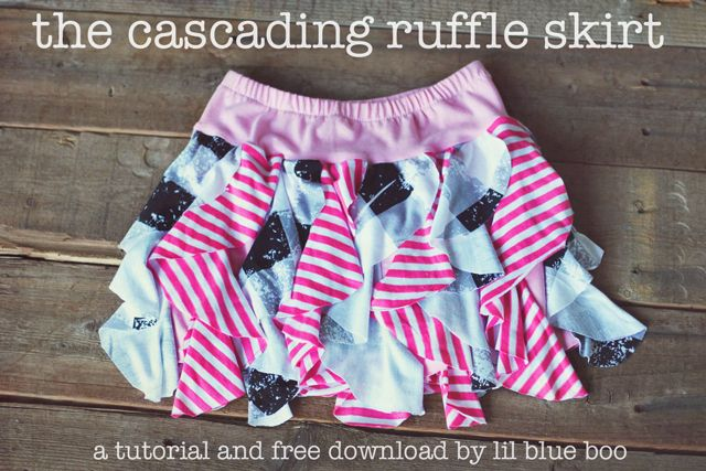 Cascading Ruffle Skirt Tutorial and Free Pattern Download: Little Girls, Skirts Tutorials, Ruffles Skirts, Cascading Ruffles, Girls Skirts, Skirts Patterns, Ruffle Skirt, Skirt Tutorial, Sewing Patterns