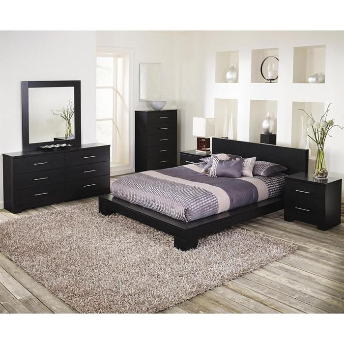 Brooklyn 4 Piece King Bedroom Set In Grainy Cinder Oak