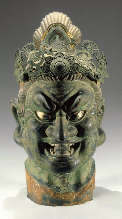 Head of a Temple Guardian - Japan, 13th century