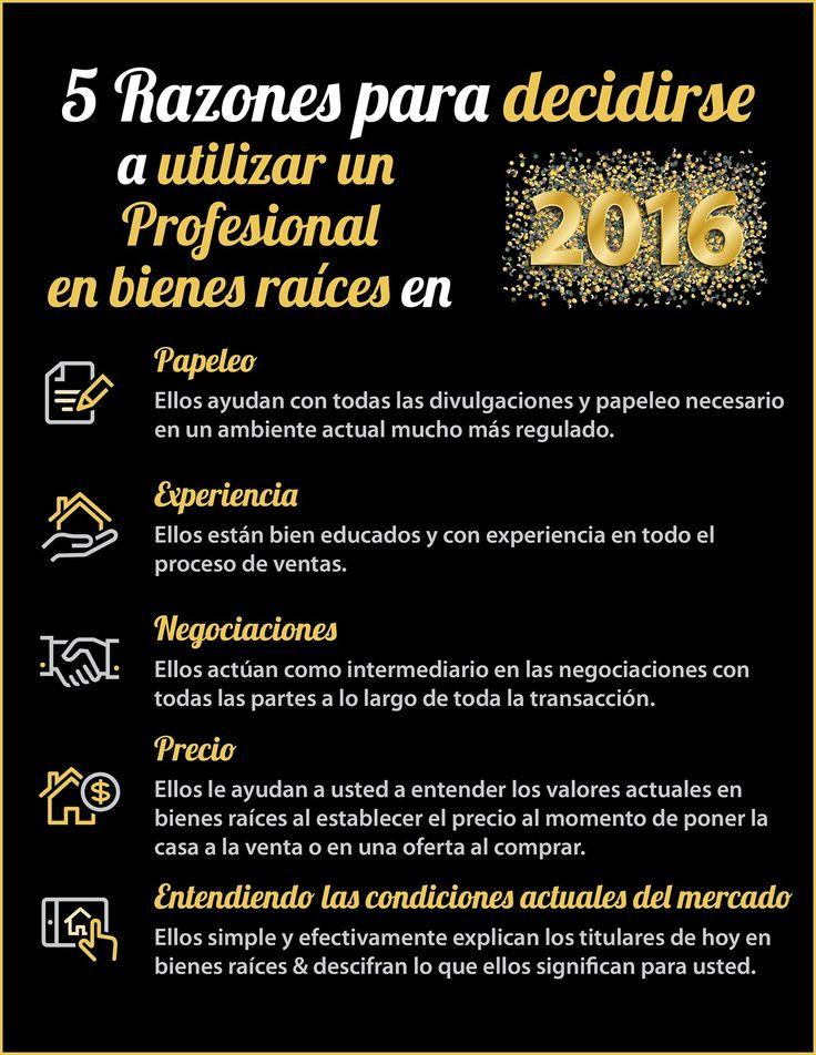 5 razones para decidirse a utilizar un profesional en bienes raíces en 2016 [INFOGRAFíA] - Latina on Real Estate