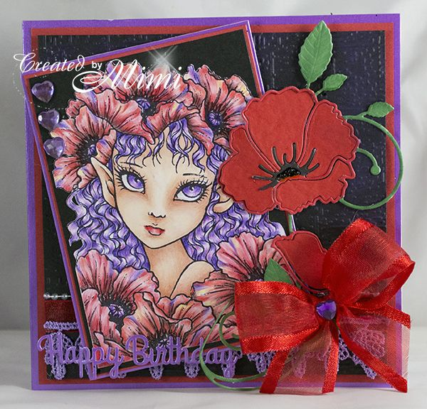 using 'Poppy Elf' by Mitzi Sato-Wiuff available from Sweet Pea Stamps